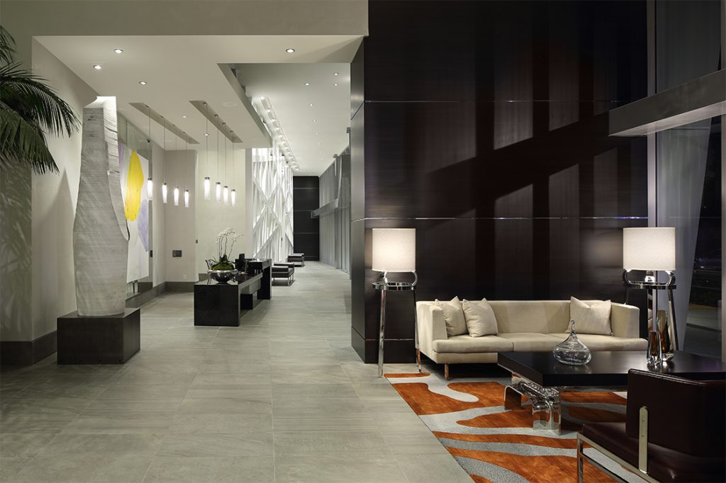 a luxury hotel lobby will custom lighting fixtures