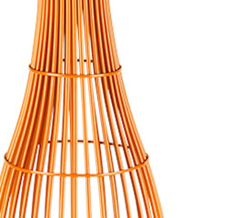 an orange luxury floor lamp